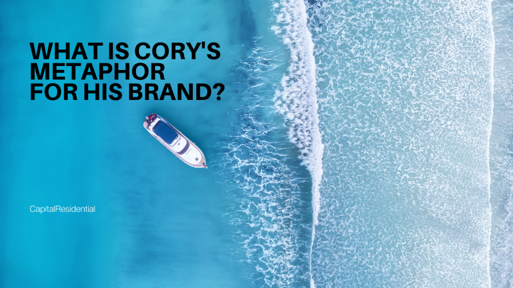What is Cory's metaphor for his brand?